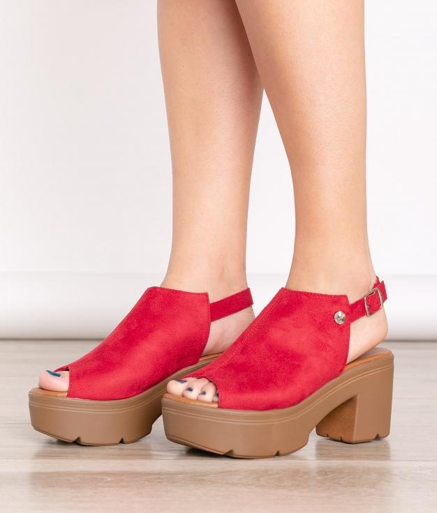 Sandalia de Tacón Támesis - Rojo