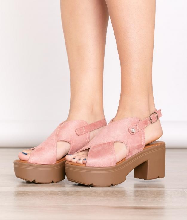 Sandalia de Tacón Miyo - Rosa