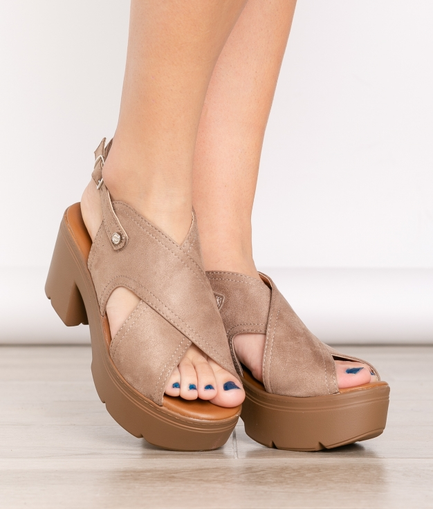 Sandalia de Tacón Miyo - Kaki