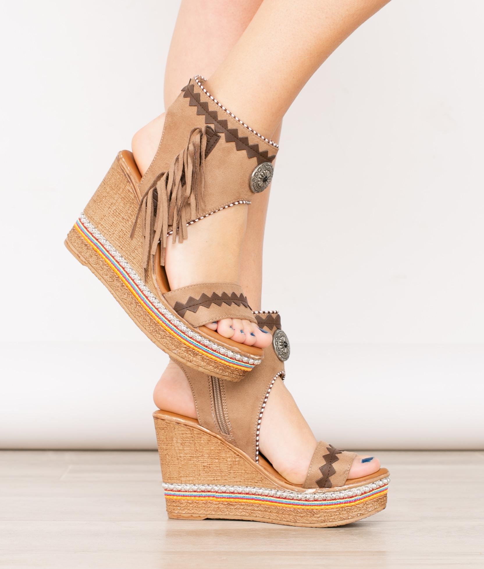 Wedge Heel Mina - Black