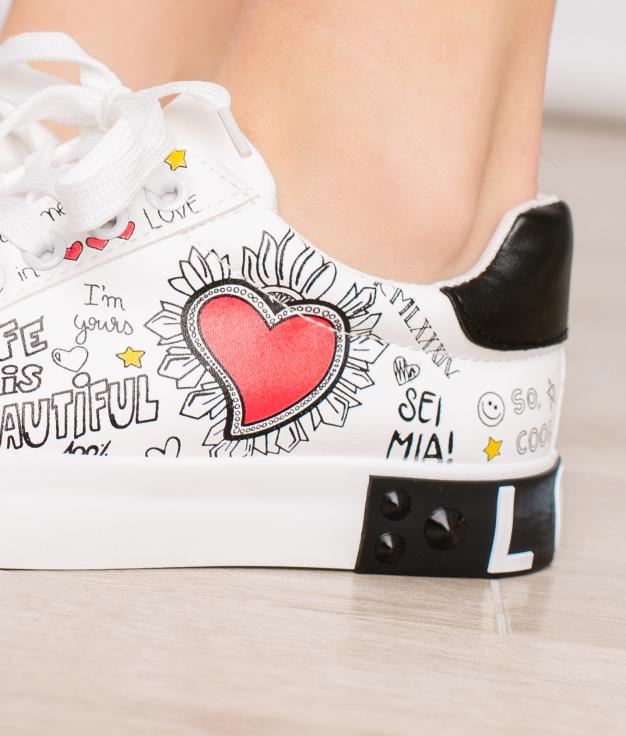 Sneakers Mia - Blanc
