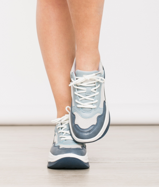 Sneakers Creme - Bleu