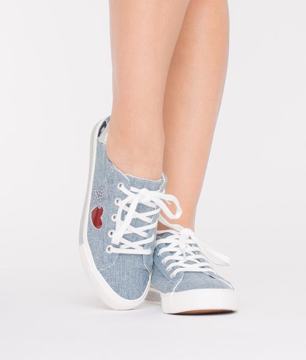 Sneakers Corazón - Azul