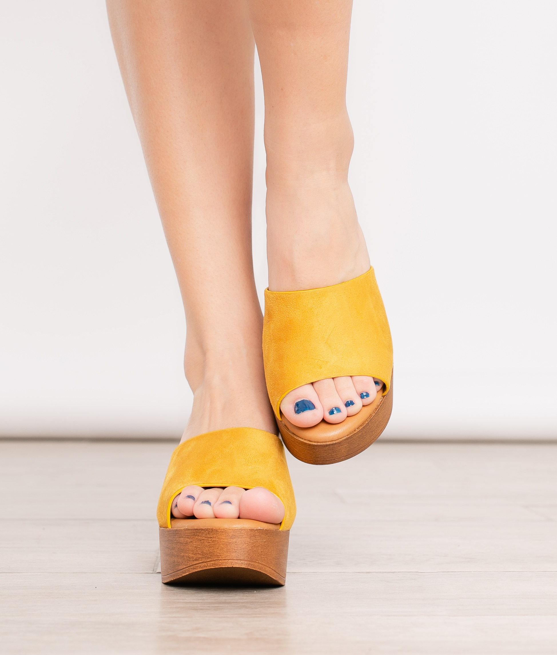 Sandália de Salto Preza - Amarelo - Pianno 39