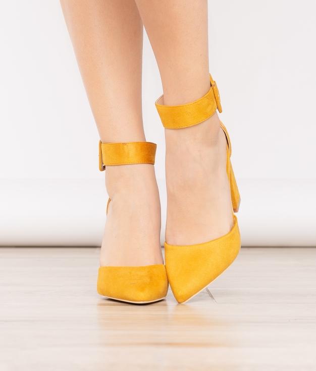 Sapato de Salto West - Mostarda