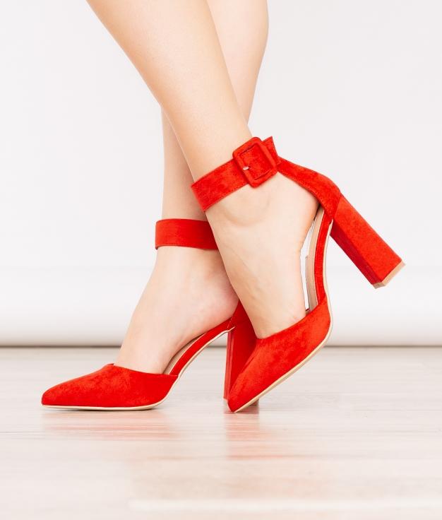 Zapato de Tacón West - Rojo