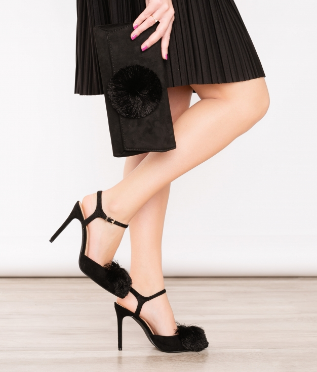 Sapato de Salto Cerdeña - Preto
