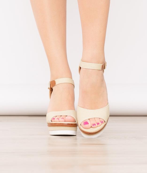 Wedge Heel Binde - Beige