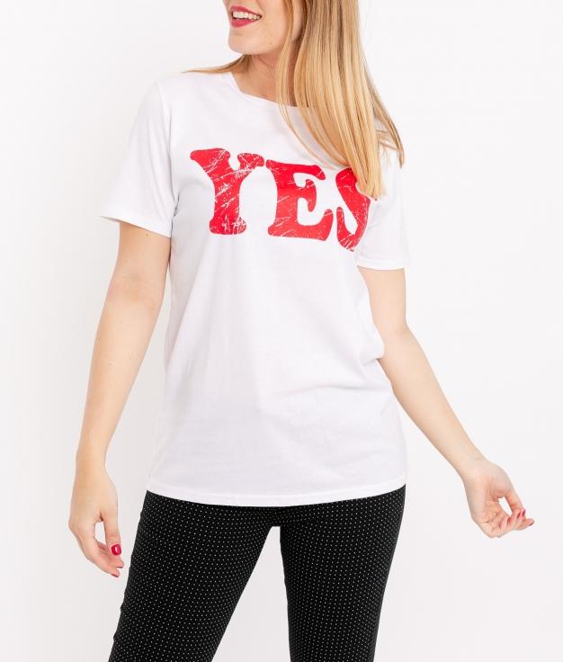 Camiseta Yes- Blanco