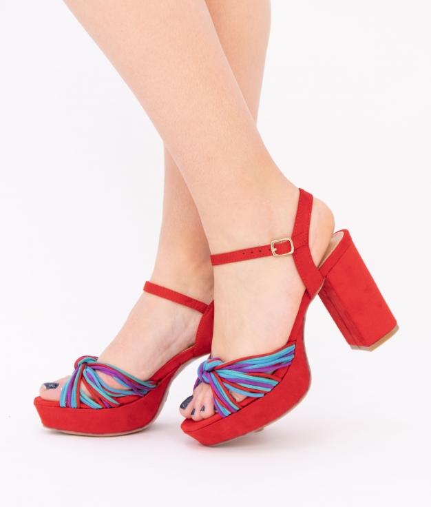 Sandália De Salto Polini - Vermelho