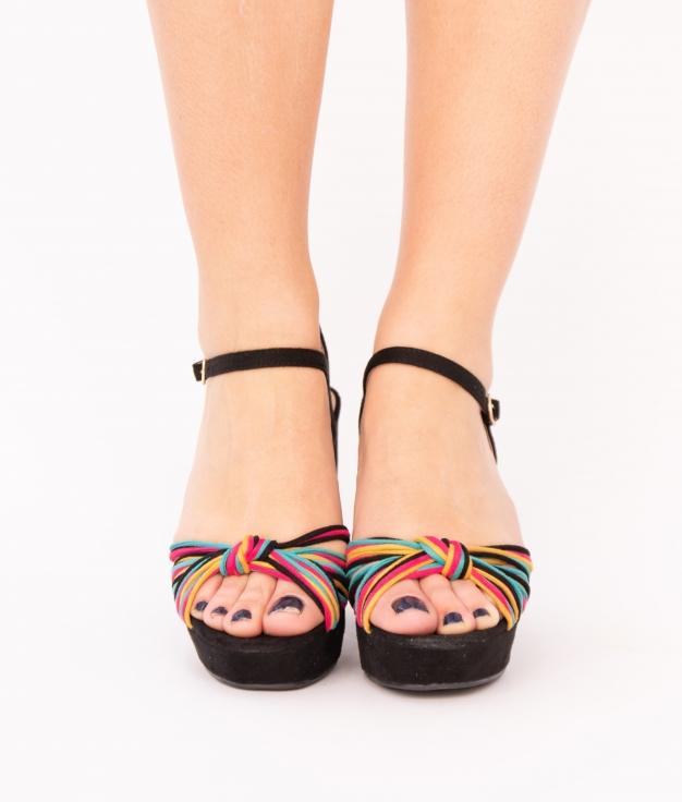 Sandalia de Tacón Polini - Negro