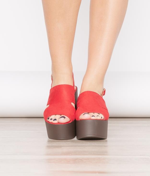 Sandália De Salto Gru - Vermelho