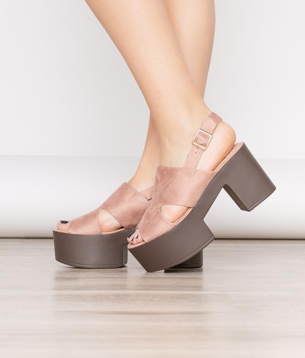 Sandália De Salto Gru - Rosa