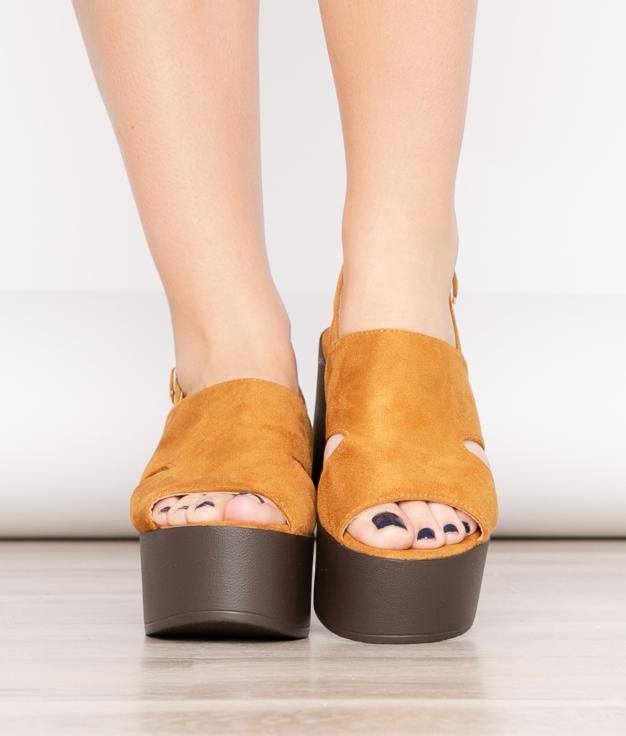 Sandália De Salto Gru - Camelo