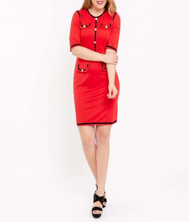 Vestido Brito - Vermelho