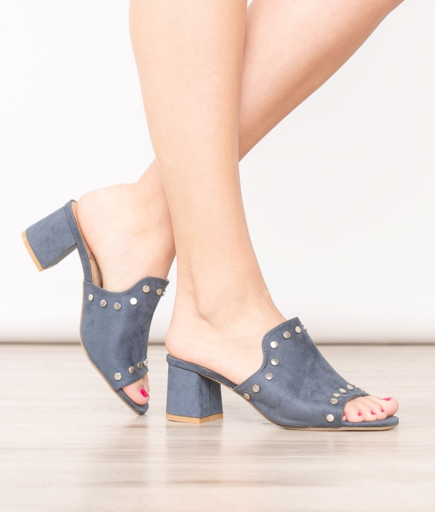 Sandália De Salto Baldy - Azul