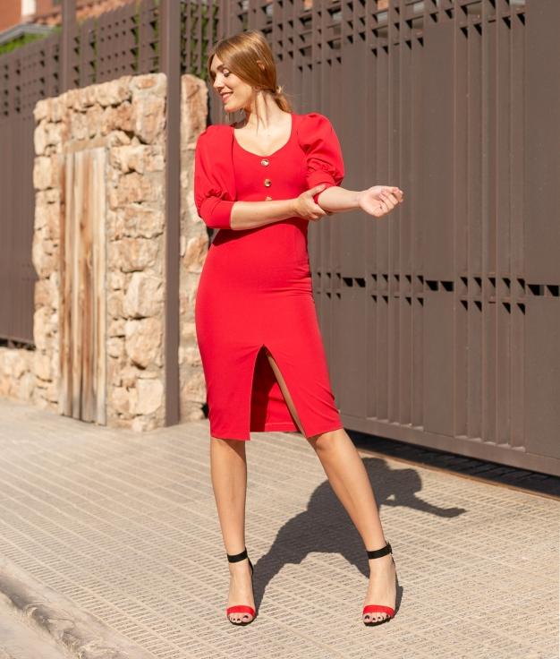 Vestido Berta - Vermelho
