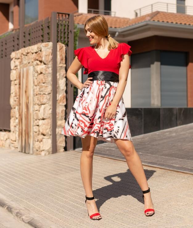 Vestido Canuli - Rosso