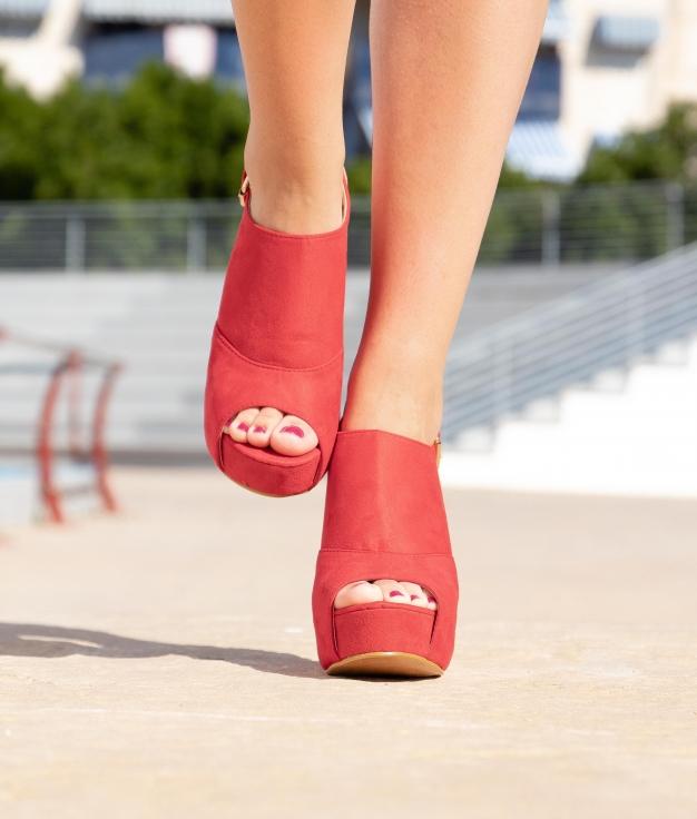 Sandália De Salto Dian - Vermelho