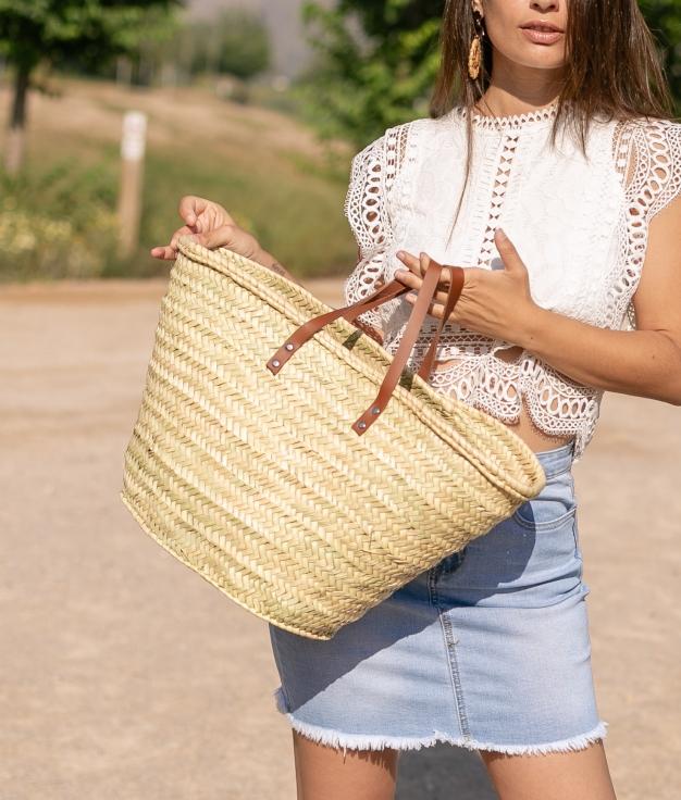 Wicker Basket Antonella - Beige