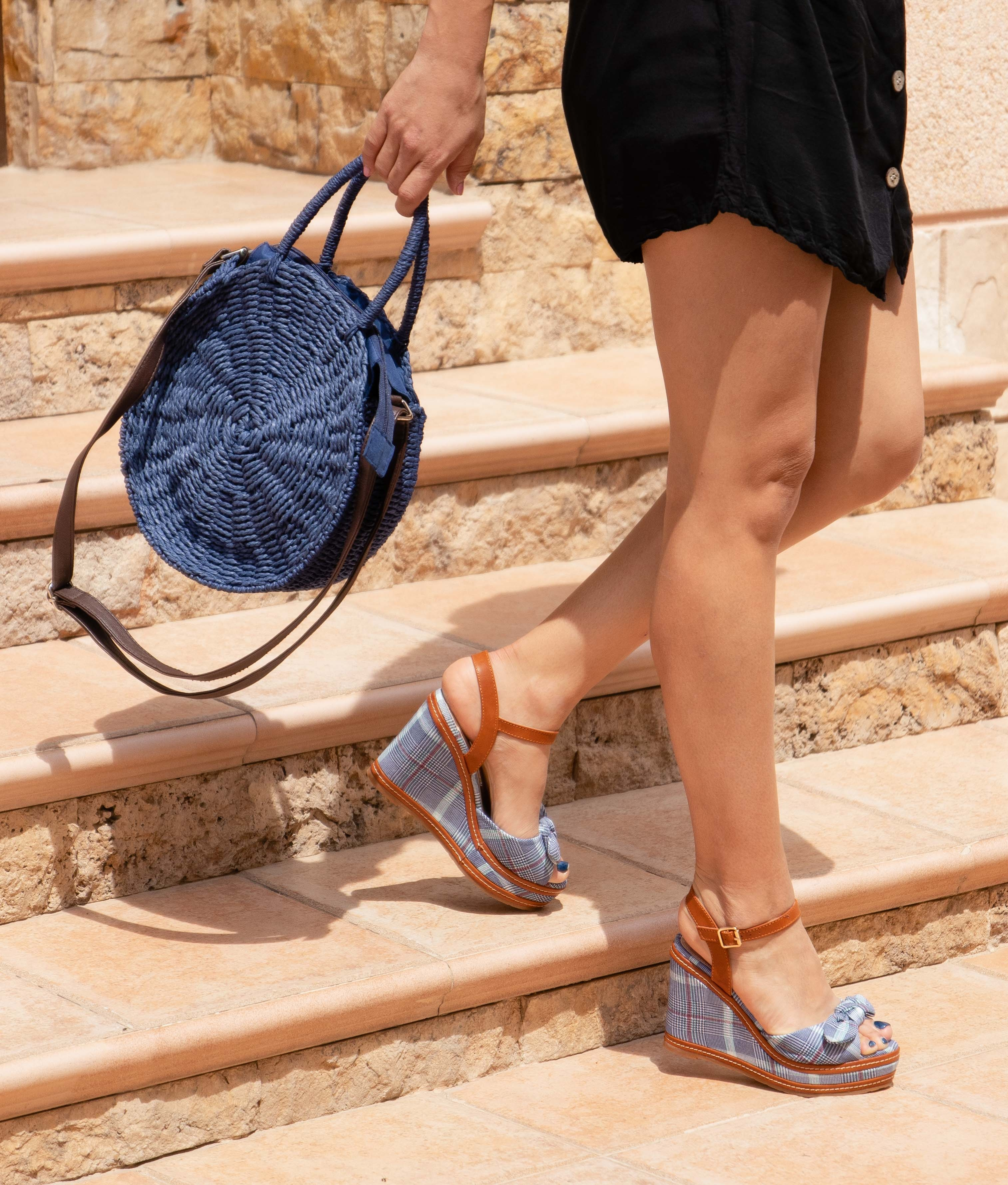 Wedge Heel Verona - Blue