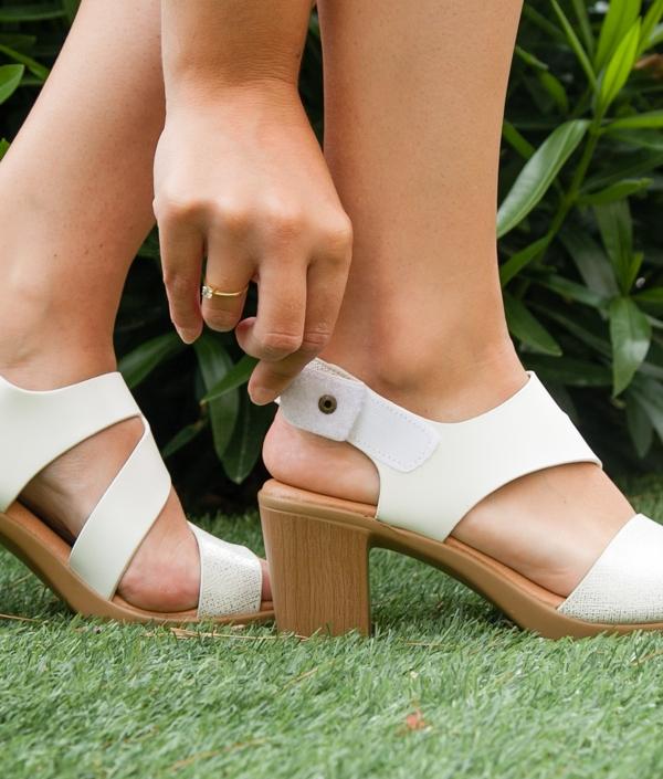 Sandale Talon Zoka - Blanc