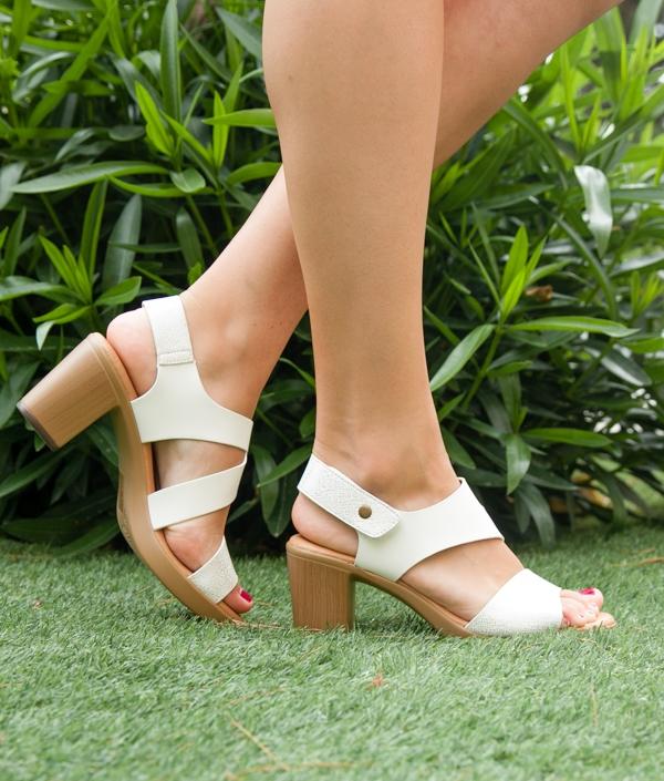 High Sandal Zoka - White