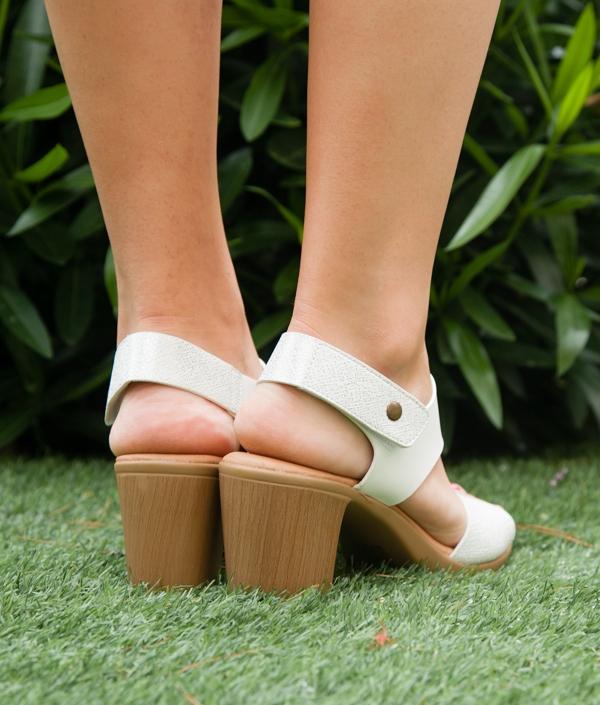 Sandália De Salto Zoka - Branco