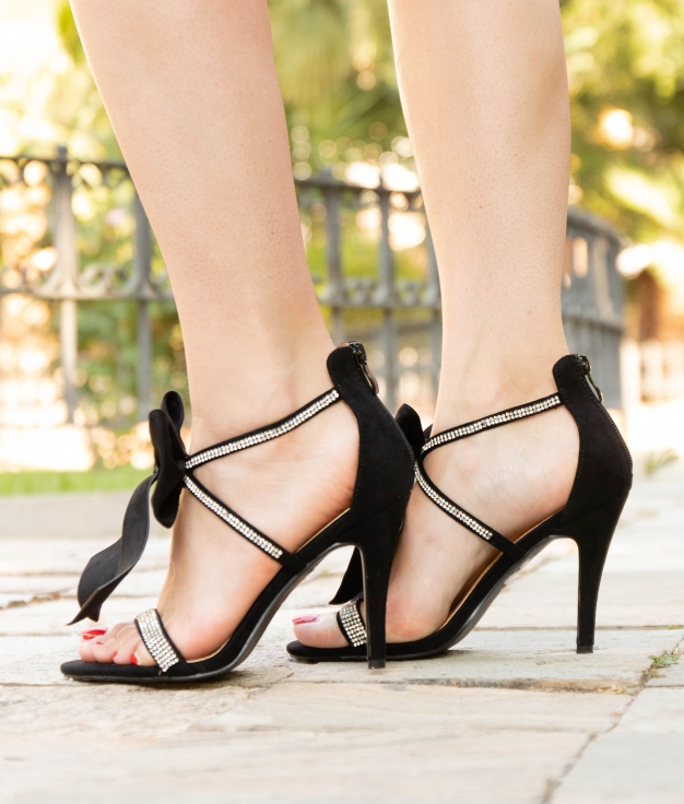 Sandália de Salto Rebe - Preto