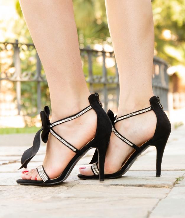 Sandalia de Tacón Rebe - Negro