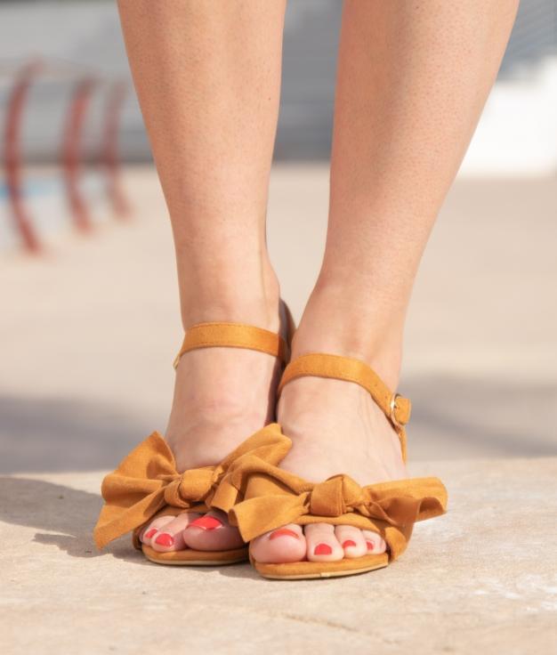 Sandália de Salto Kata - Camelo