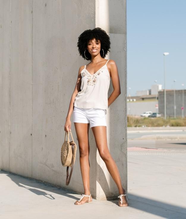 Short Lanto - Blanc