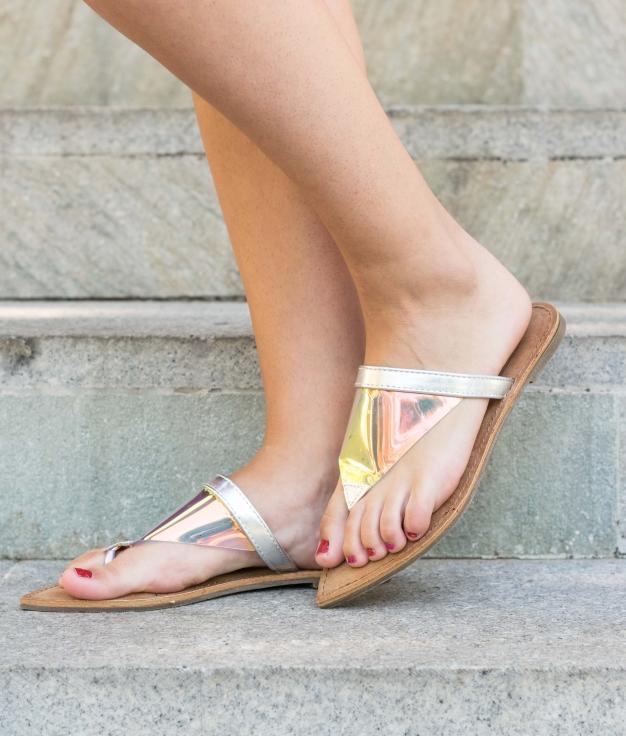 Sandalo Bibura - Argento