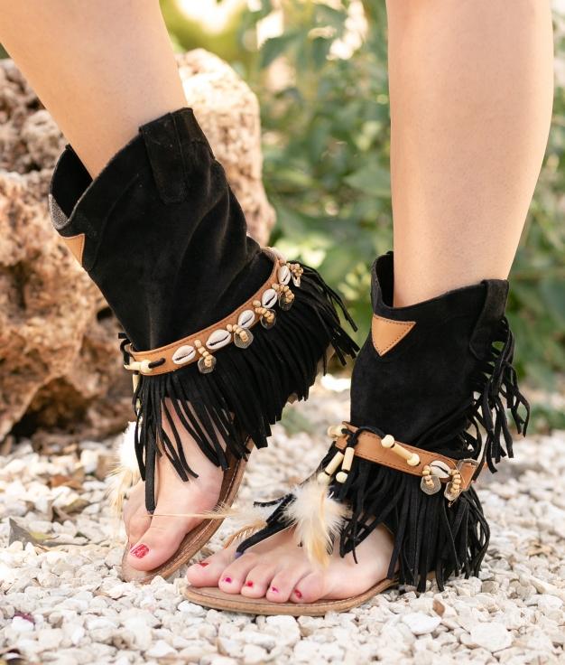 Sandale Mahoya - noir