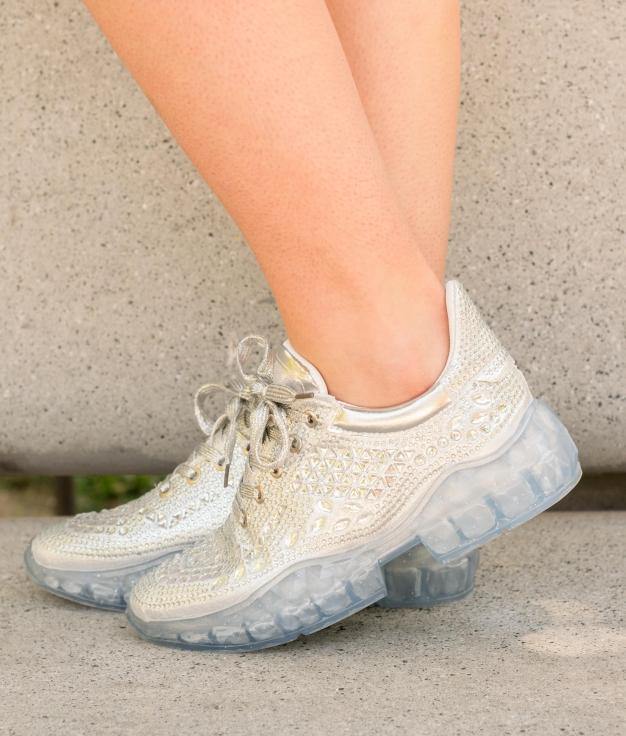 Sneakers Chain - Plata