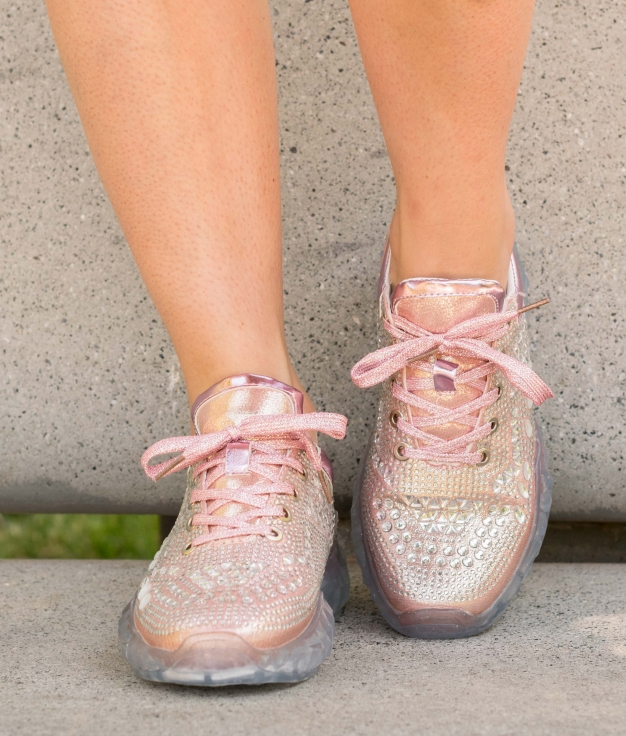 Sneakers Chain - Rosa