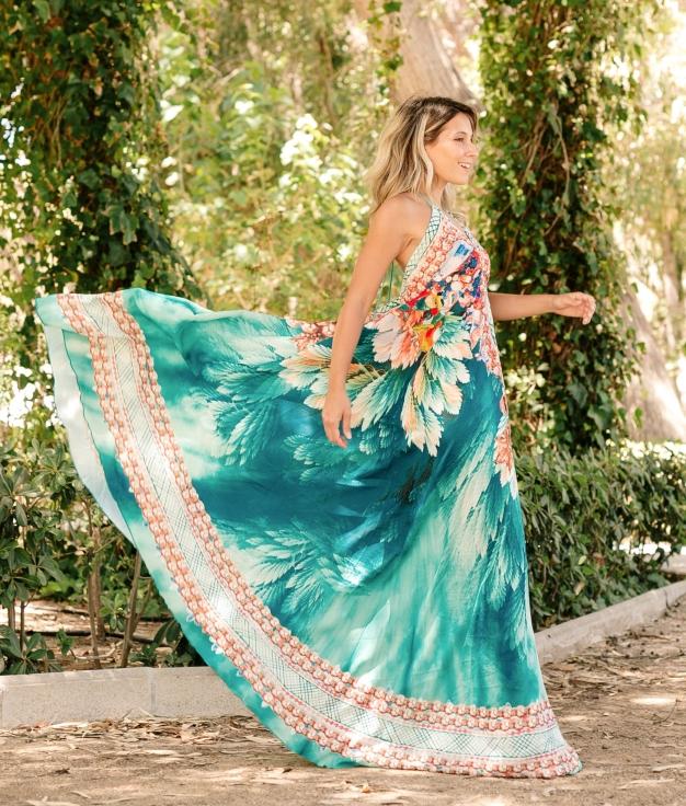 Vestido Zenca - Turquesa