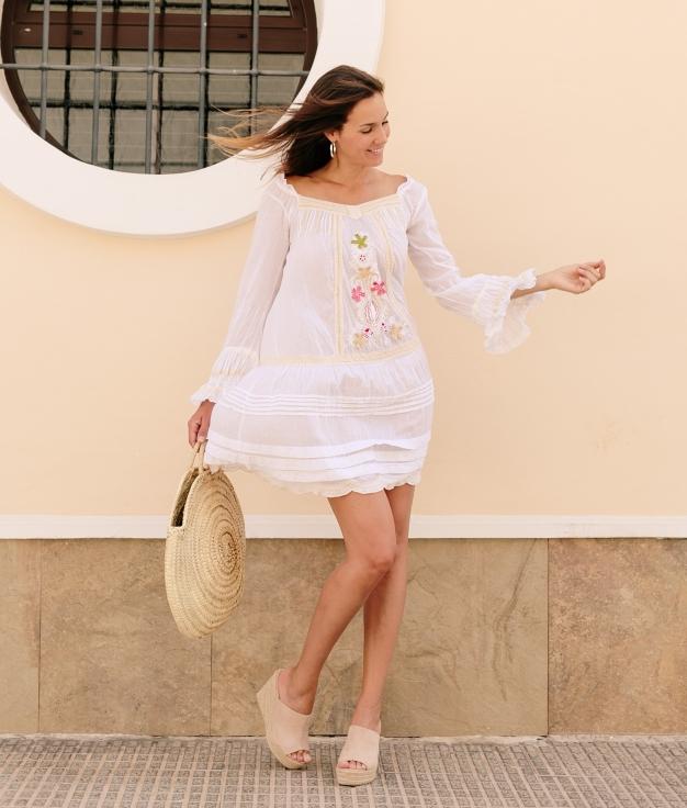 Vestido Megias - Blanco