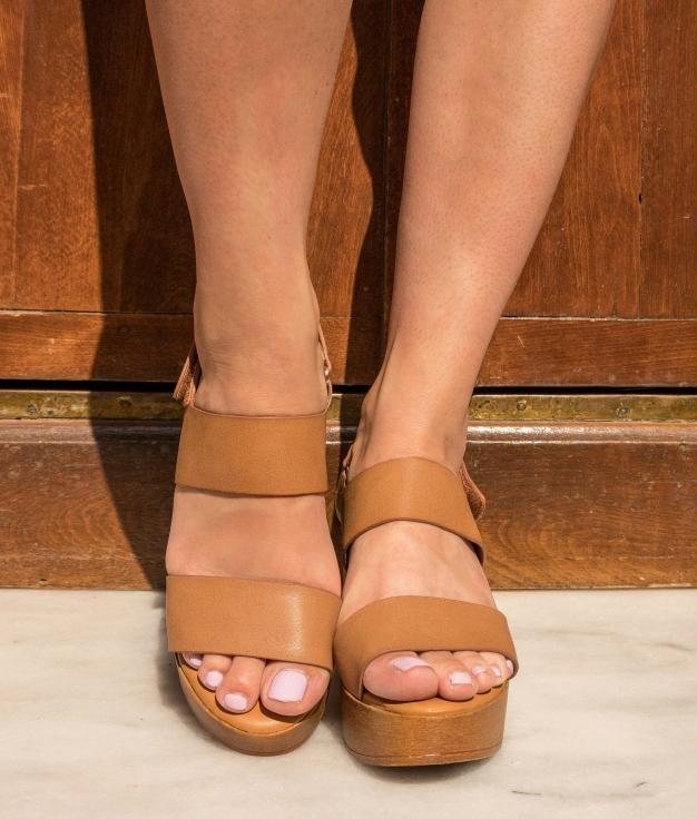 Sandália de Salto Tempana - Camelo