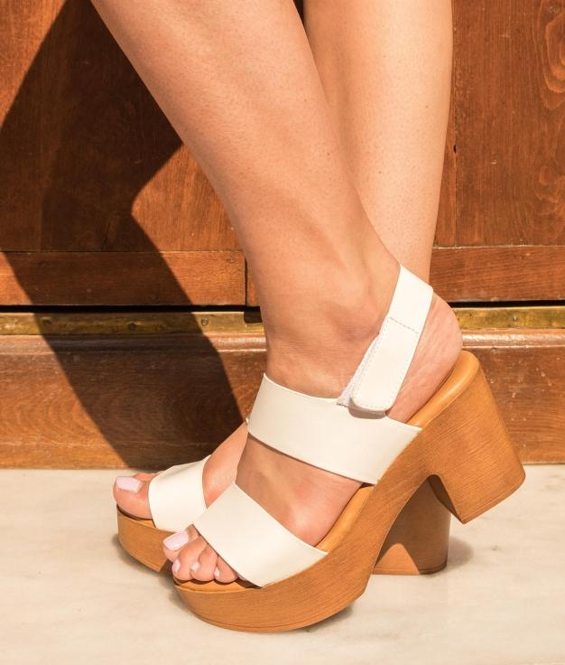 Sandália de Salto Tempana - Branco