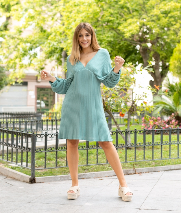 Vestido Loge - Bleu
