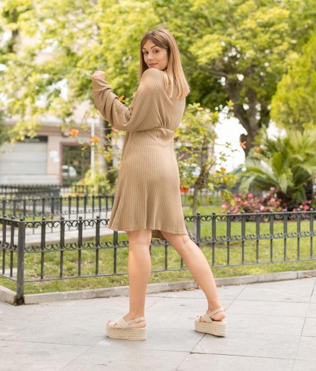 Vestido Loge - Chameau