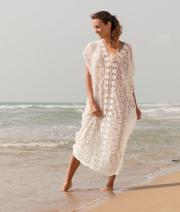 Vestido Biscu - Blanco