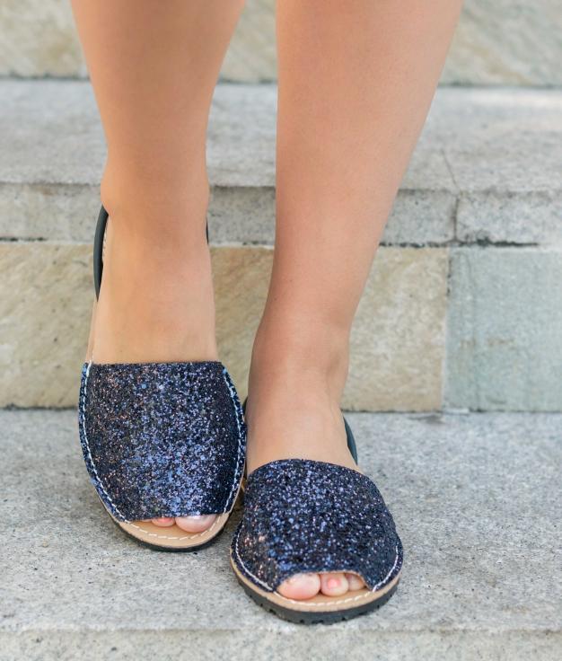 Menorquina Abad - Marinho Glitter