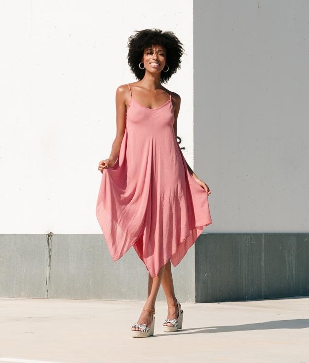 Vestido Agape - Coral