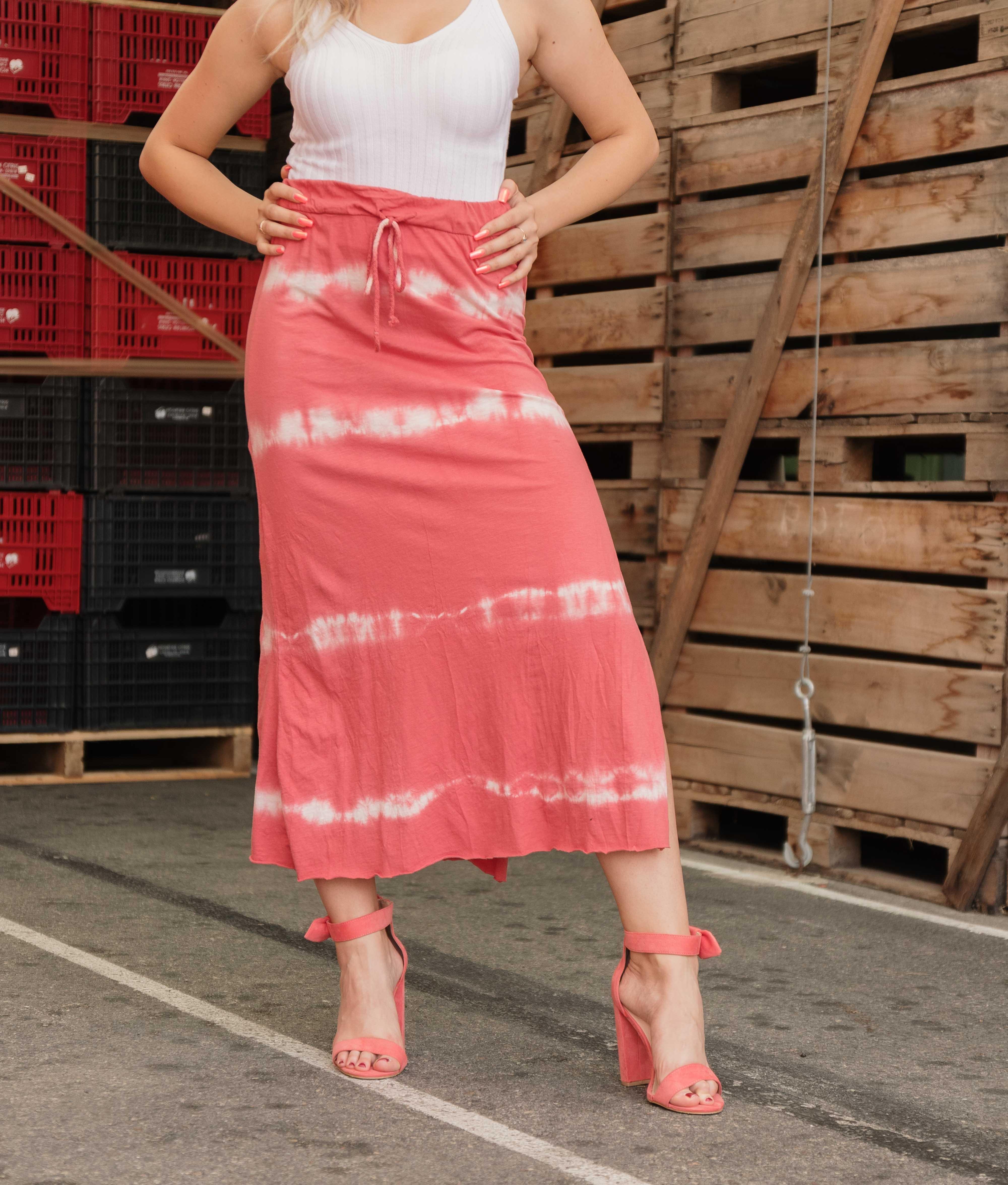 Falda Cheble - Coral