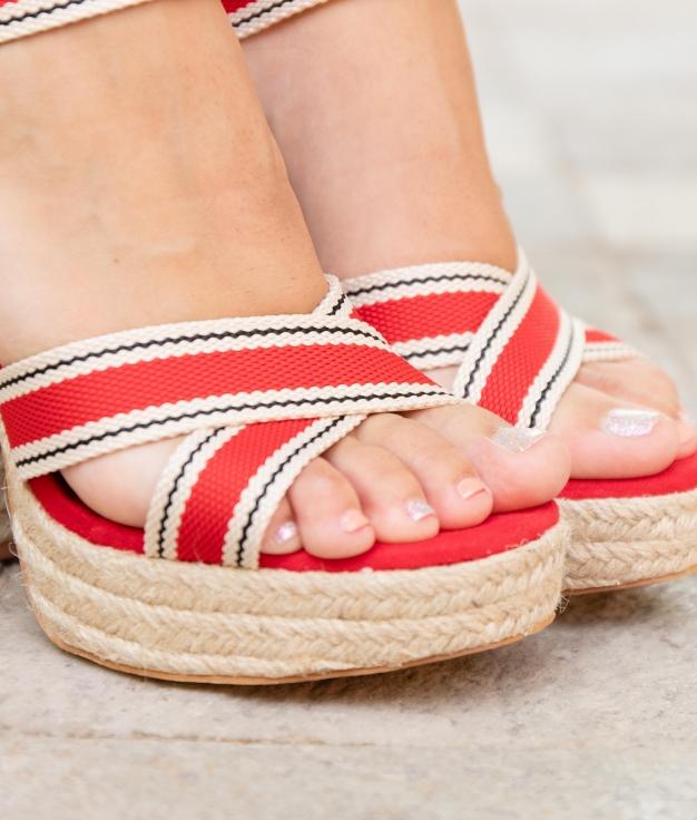 Sandalo Alta Fiama - Rosso