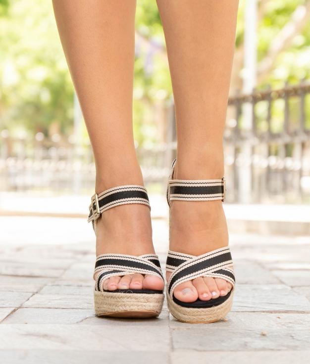 Sandalo Alta Fiama - Nero