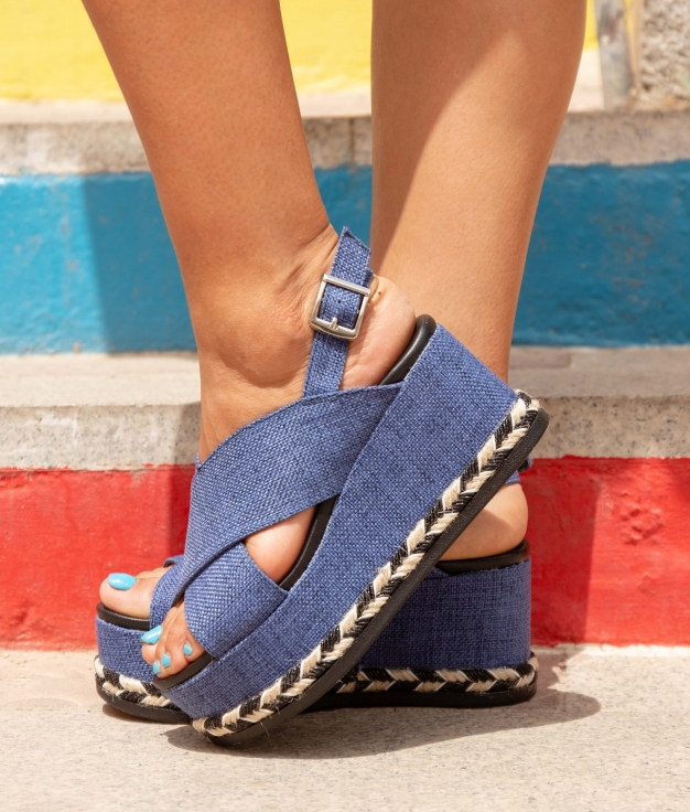 Wedge Heel Serendi - Blue