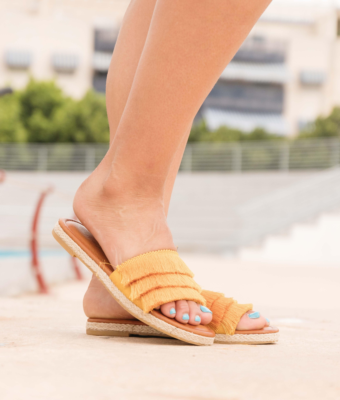 Sandalia Sequin - Jaune